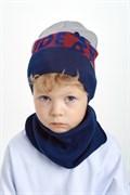 Nikola (Pompona) комплект из вязаной шапки со снудом 20 V 98к (р.50-54)