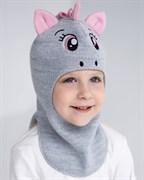 Milli шлем модель Единорог, на хлопке (на 2 года) демисезонный