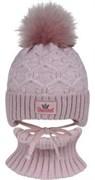 Grans комплект A 1144 ST шапка с утеплителем, подклад хлопок+снуд (р.44-46)