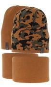 AGBO комплект 3526 Kamuf шапка двухсторонняя+снуд (р.50-52)