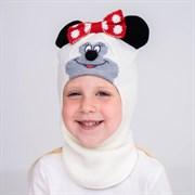 Olimpias шлем модель Минни, на хлопке (на 2 года) демисезонный