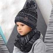 .AJS комплект 42-532 шапка на флисе + снуд  (р.54-56)