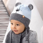 .AJS комплект 42-418 шапка, подклад флис +шарф (р.44-46)