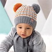.AJS комплект 42-421 шапка, подклад флис +шарф (р.40-42)