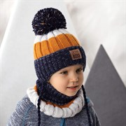 .AJS комплект 42-481 шапка на флисовом подкладе + снуд (р.48-50)