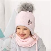 .AJS комплект 42-470 шапка, подклад флис + снуд двойная вязка (р.48-50)