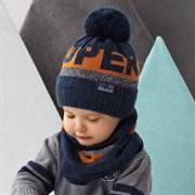 .AJS комплект 42-500 шапка на флисе + снуд  (р.48-50)