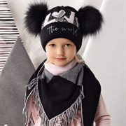 .AJS комплект 42-467 шапка+платок двойная вязка (р.52-54)