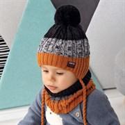 .AJS комплект 42-452 шапка двойная вязка+ снуд (р.44-46)