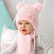 .AJS комплект 42-402 шапка, подклад флис +шарф (р.44-46)
