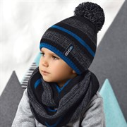.AJS комплект 42-535 шапка + снуд двойная вязка (р.52-54)