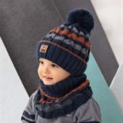 .AJS комплект 42-448 шапка, подклад флис + снуд (р.48-50)