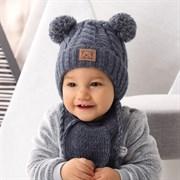 .AJS комплект 42-415 шапка, подклад флис +шарф (р.44-46)
