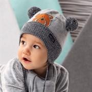 .AJS комплект 42-447 шапка, подклад флис + шарф (р.44-46)