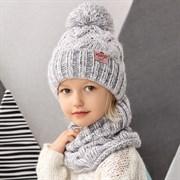 .AJS комплект 42-463 шапка подклад флис + снуд (р.52-54)