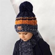 .AJS комплект 42-454 шапка на флисовом подкладе + шарф (р.48-50)