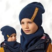 .AJS комплект 42-549 шапка двухсторонняя + снуд  (р.54-56)