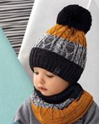 .AJS комплект 42-488 шапка + снуд двойная вязка (р.52-54)