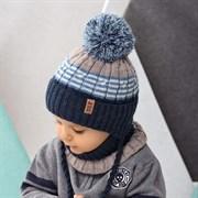 .AJS комплект 42-446 шапка, подклад флис + снуд (р.44-46)