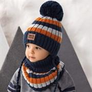 .AJS комплект 42-493 шапка подклад флис + снуд  (р.52-54)