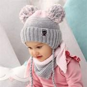 .AJS комплект 42-430 шапка, подклад флис + косынка (р.44-46)