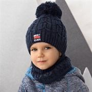 .AJS комплект 42-490 шапка двойная вязка + снуд (р.48-50)