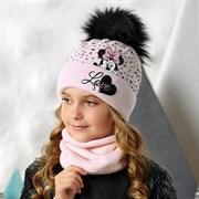 .AJS комплект 42-527 шапка и снуд, двойная вязка (р.52-54)
