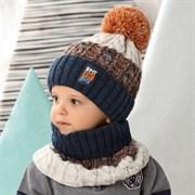 .AJS комплект 42-453 шапка на флисовом подкладе + снуд (р.48-50)