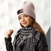 .AJS комплект 42-522 шапка+платок двойная вязка (р.52-54)