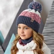 .AJS комплект 42-510 шапка со светоотражающими нитями, подклад флис + снуд (р.52-54)