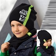 .AJS комплект 42-538 шапка двойная вязка + снуд  (р.52-54)