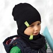 .AJS комплект 42-538 шапка двухсторонняя + снуд  (р.52-54)