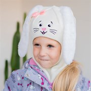 Milli шлем модель Зайчик, на утеплителе (на 6 лет) зима