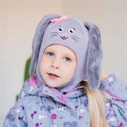 Milli шлем модель Зайчик, на  утеплителе (на 1 год) зима
