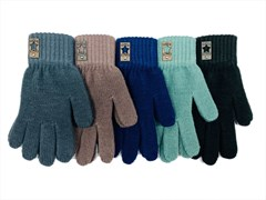 Теплыши перчатки TG-523 одинарная вязка (р.15/7-8 лет)