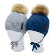 LAMIR шапка P 004 Рома, утеплитель, натуральный помпон (р.48-50)