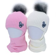 GRANS комплект A 1051 ST шапка на утеплителе + снуд (р.50-52)