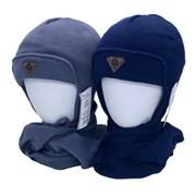 AGBO комплект 2408 Amis шапка с утеплителем, подклад хлопок+шарф (р.52-54)
