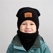 Milli шапка Wild Bear вязка на флисовом покладе + снуд (р.54-56)
