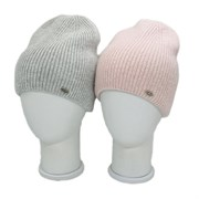 LAMIR шапка V 334-19 Афродита ангора, двойная вязка (р.56-58)