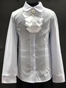 блузка ЛЮТИК модель 20168 белая дл. рук. жабо-лента (рост128,134,140,146,152)