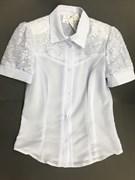 блузка ЛЮТИК модель 20145 короткий рукав верх-шитье (рост 152,158)