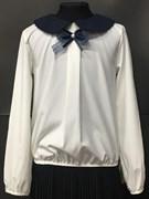 Zibi блузка длин.рук. бантик-ленточка, кремовая (разм128-158)