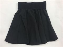 """юбка ТехноТкань модель """"солнце"""" черная (р.32-42)"""