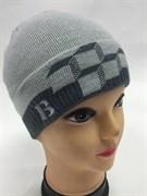 amal модель 005 шапка для мальчика одинарная вязка(кубики)