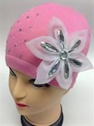 ANPA модель KW 19 шапка для девочки (цветок с камнями)р.48-50