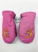 варежки болоневые модель-ДУТЫШ для девочки ( 4-6лет)