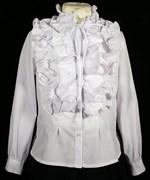MAGICjunior модель 402 блузка длинный рукав, белая (р.158)