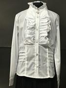 WhiteRose  блузка с длин.рук. жабо (р.128-158)