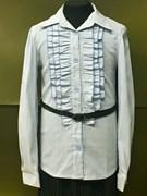 TALKA блузка длин.рук. с поясом, голубая (р.134-164)